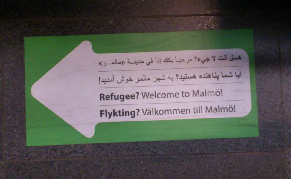På tågperongen, Malmö C