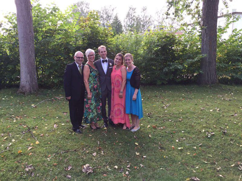 Pappa, mamma, lillebror, lillasyster och jag